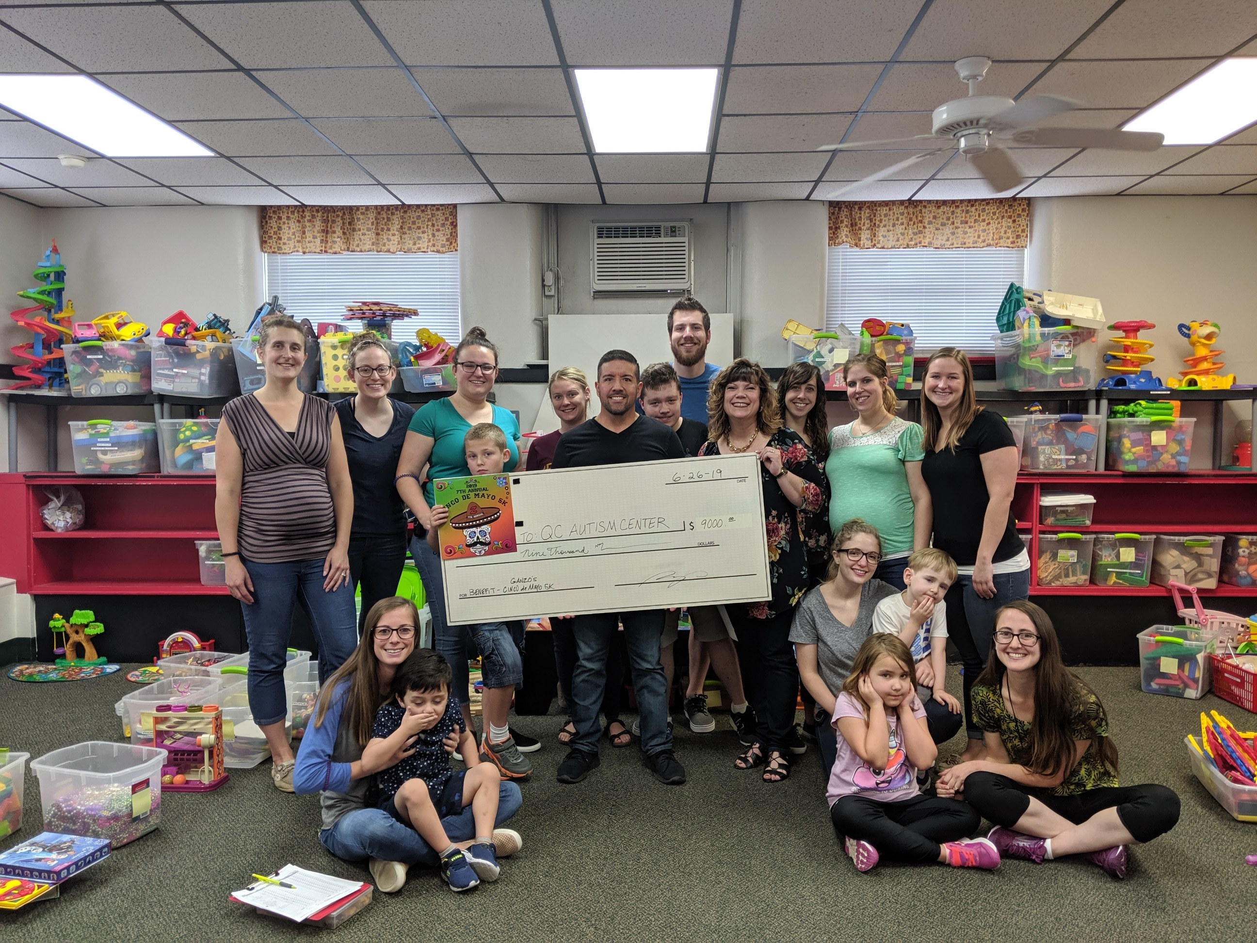 Ganzo's Donates $9,000 to Local Charity